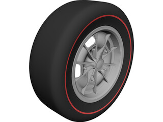 Dodge Charger Mark I Wheel 3D Model