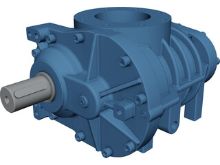 Screw Compressor CAD 3D Model
