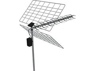 TV Antenna 3D Model 3D Preview