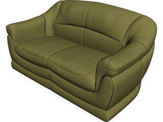 Sofa for 2 Seats 3D Model