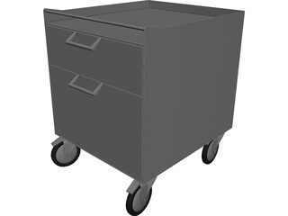 Aluminium Furniture with Wheels 3D Model 3D Preview