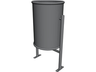 Urban Trash Bin 3D Model