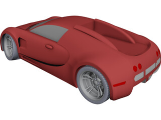 Bugatti Veyron 3D Model 3D Preview