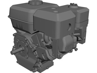 Honda GX200 Engine CAD 3D Model