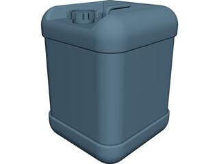 Plastic Container 20lt CAD 3D Model