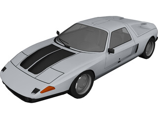 Mercedes-Benz C111-II Concept 3D Model