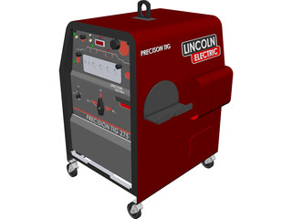 Welding Machine Lincoln Electric Precision TIG 275 CAD 3D Model