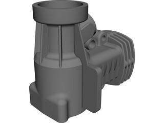 RC Engine Housing CAD 3D Model