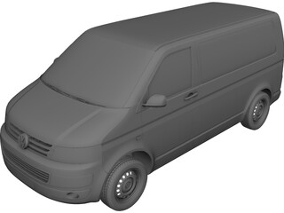 Volkswagen Transporter T5 (2012) 3D Model