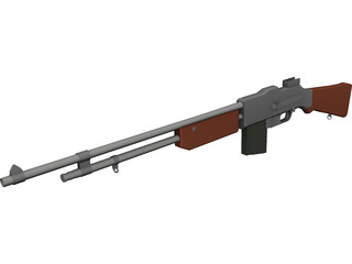 Browning Automatic Rifle 3D Model