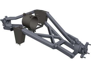 Polaris Outlaw 500 Rear Suspension CAD 3D Model