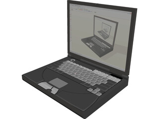 Dell Inspiron 8200 Laptop 3D Model
