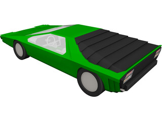 Alfa Romeo Carabo 3D Model 3D Preview