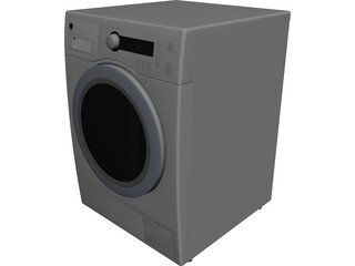 GE Washer and Dryer CAD 3D Model