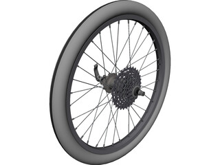 Bike Rear Wheel 20inch CAD 3D Model
