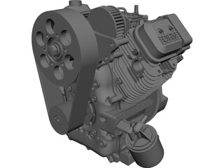 Briggs and Stratton V-Twin Vanguard Gas Engine CAD 3D Model