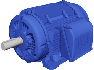 Weg Electric Motor CAD 3D Model