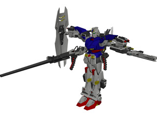 Gundam F-90 Long Range Type 3D Model