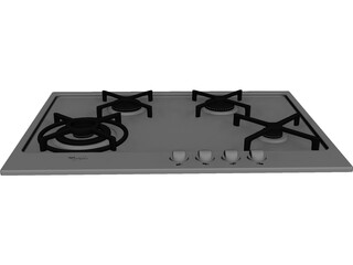 Whirlpool Stove 3D Model
