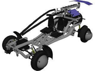 Buggy Dakar Concept 3D Model 3D Preview
