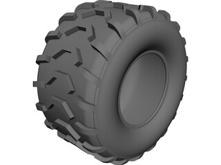 ATV Tire CAD 3D Model