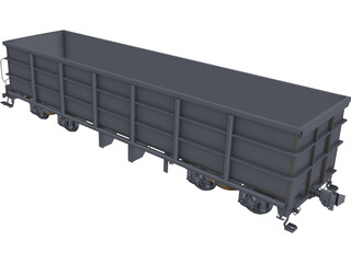 Wagon CAD 3D Model