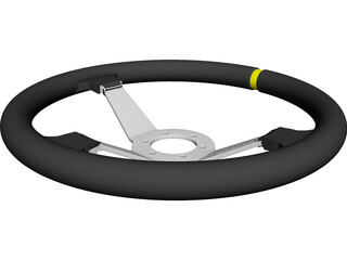 Sparco Steering Wheel CAD 3D Model