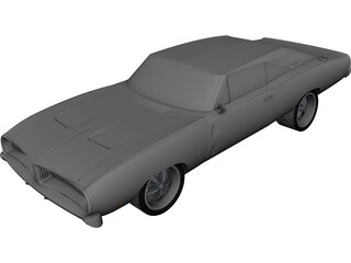 Dodge Charger RT (1968) CAD 3D Model