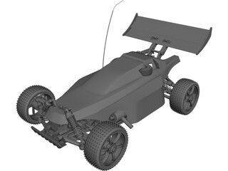 Buggy Remote Radio Control Car CAD 3D Model