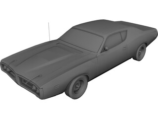 Dodge Charger 440 Magnum (1973) 3D Model