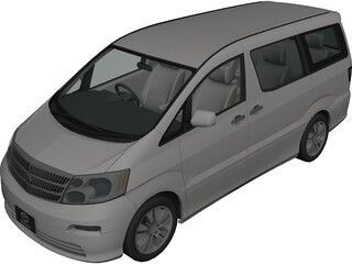 Toyota Alphard (2002) 3D Model
