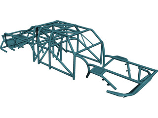 Ford Ranger Prerunner Roll Cage 3D Model