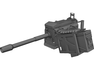 MK19 Grenade Launcher  CAD 3D Model