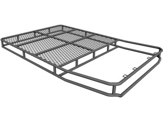 SUV Top Rack Basket Style CAD 3D Model