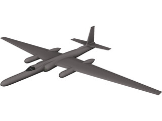 Lockheed U-2 Dragon Lady CAD 3D Model