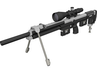 DSR-1 Sniper Rifle 3D Model 3D Preview