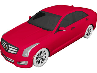 Cadillac ATS (2013) 3D Model 3D Preview