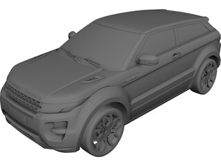 Range Rover Evoque Coupe (2011) 3D Model