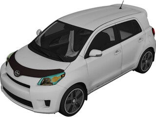 Scion xD (2011) 3D Model 3D Preview