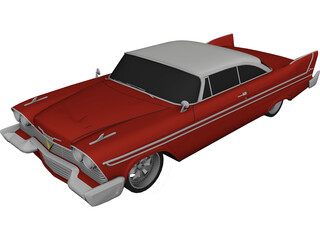 Plymouth Fury Supercharged (1958) 3D Model
