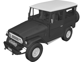 Toyota Land Cruiser FJ40 3D Model