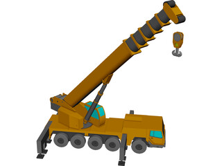 All Terrain Crane CAD 3D Model