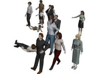 People Person Collection 3D Model