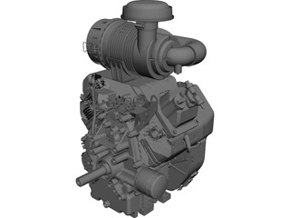 Kohler V Twin Engine 25hp CAD 3D Model