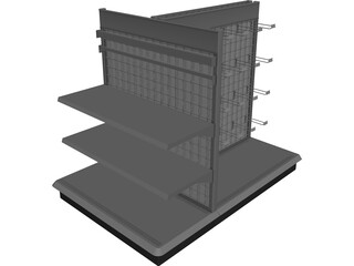 Best Buy Gondola Shelving 3D Model