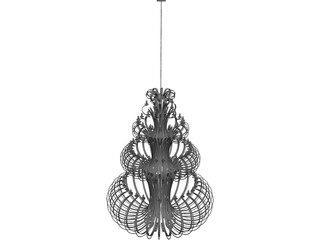 Iron Chandelier 3D Model 3D Preview
