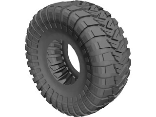 Maxxis Trepador Tire 3D Model