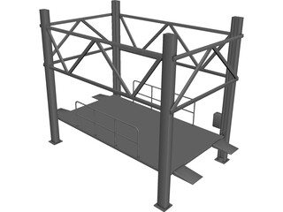 Car Lift Parking CAD 3D Model