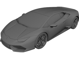 Lamborghini Huracan LP610-4 (2015) 3D Model