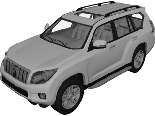 Toyota Land Cruiser Prado (2010) 3D Model
